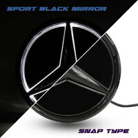 Black Mirror Car Led Front Grille Emblem Logo Daytime Light For Benz 2005-2013