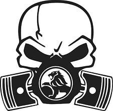 LARGE Skull Piston gas mask Decal Sticker Car Holden hsv Drift Hoon Turbo Stance