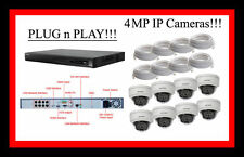 HIKVISION 8 CH NVR, 8TB w/ 4MP CAMERAS, PLUG n PLAY! USA SELLER! ENGLISH VERSION