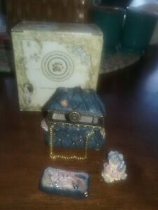 "Boyds Bears Treasure Box ""Mary Lou's Bottomless Purse"" #82504 MIB 3 pc."