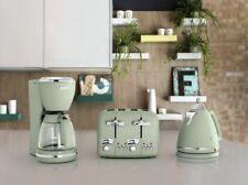 De'Longhi Argento Flora 3kW 1.7L Cordless Kettle & 4 Slice Toaster Set - Green