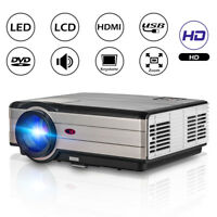 CAIWEI 1080p Projector Home Cinema Backyard Party HD Movie HDMI USB ZOOM LCD LED