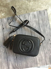 Preowned Gucci Women's Black Leather Soho Disco Bag Shoulder Bag