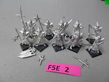 Warhammer Fantasy 10 oop metal Dark Elf Black Guard w/ command