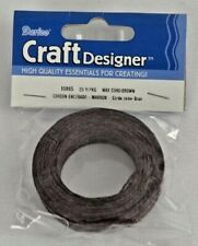 Darice Craft Designer Item # 10865 Waxed Linen Brown Cord 25 Yards