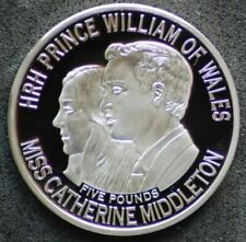 2011 Guernsey Wedding of Prince William and Kate Middleton silver £5 coin