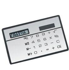 2PCS 8 Digits Ultra Thin Mini Slim Credit Card Solar Power Pocket Calculator New