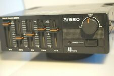 Car graphic equalizer amplifier Aroso 40W AUX in Made in Japan