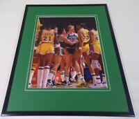 Larry Bird vs Kareem Abdul Jabbar Framed 11x14 Photo Display Lakers Celtics