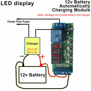 LED display 12v Batterie Automatically Auto Charger Controller Protection Module