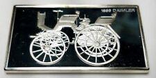 1974 STERLING SILVER FRANKLIN MINT CENTENNIAL CAR INGOT-1886 DAHMLER-1.92 oz