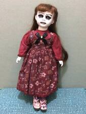 artist signed creepy bisque doll