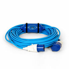 16amp 3pin 230v 20m METERED kWH CABLE HOOKUP LEAD MASTER BOAT CANAL NARROW