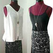 Boho Lot Mossimo Size S Tribal Maxi Skirt+Coordinating Oh My Gauze! Blouse+Cami