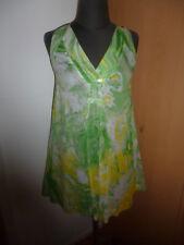 Miss Sixty Tunika Top schwingendes Shirt-Kleid Gr. XS (34-36) grün-gelb-weiß