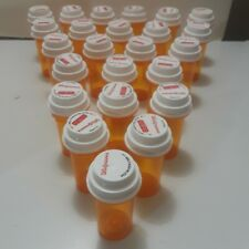 """New listing Lot of 24 Empty 3"""" Tall 1.25"""" Wide Medicine Pill Bottles & Safety Lids"""