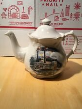 Vintage Price Kensington Ceramic Steamship Teapot New Orleans~Made in England