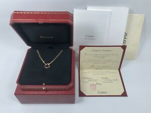 Cartier Love Necklace with 2 Diamonds in 18K Rose Gold