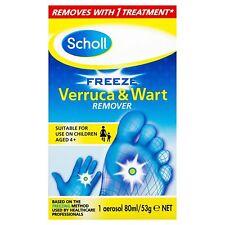 Scholl Freeze Verruca Wart Remover Foot Health Care Adults Children (4+) 80ml
