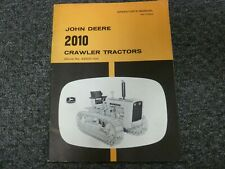 John Deere 2010 Crawler Tractor Owner Operator Maintenance Manual Omt19256