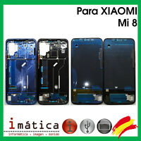 MARCO INTERMEDIO PARA XIAOMI MI 8 AZUL NEGRO CHASIS FRAME PANTALLA LCD