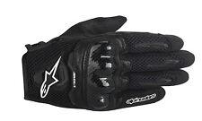 ALPINESTARS 2016 SMX-1 AIR Leather/Mesh Motorcycle Riding Gloves (Black) Medium