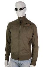 PARAJUMPERS Nelson Sommer Zip Sweatshirt Sweatjacke Sweat Gr.L militär grün