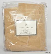 Nip Pottery Barn Velvet Pole Pocket Drape Curtain (1) 50x63 *Beige/Tan