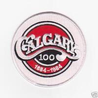 NHL CALGARY FLAMES 100TH ANNIVERSARY PATCH CITY OF CALGARY