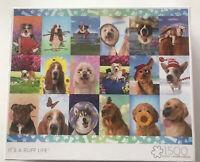 "Buffalo Games - 1500 Piece Dog Theme Jigsaw Puzzle ""It's a Ruff Life"" Cute Pups"