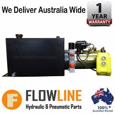 heavy machinery hydraulics hydraulic power pack hydraulic powerpack 12v dc 10lt tank all wired