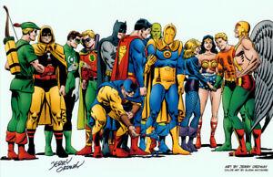 Jerry Ordway SIGNEDDC Comic JLA JSA Art Print~ Superman Batman Wonder Woman +