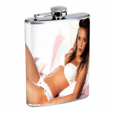 Argentina Pin Up Girls D2 Flask 8oz Stainless Steel Hip Drinking Whiskey