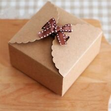 10pcs Mini Kraft Paper Packaging Box Wedding Gift Favor Party Candy Cake Box