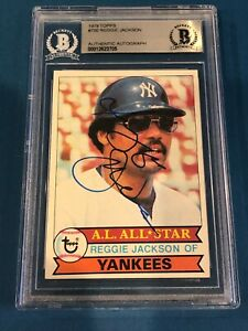 REGGIE JACKSON Signed 1979 TOPPS Card #700 Beckett Authenticated BAS
