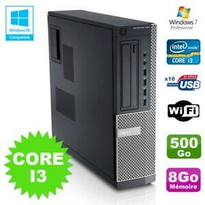 PC Dell Optiplex 790 DT Intel I3-2120 3.3Ghz 8Go Disque 500Go DVD WIFI Win 7