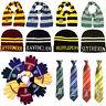 Harry Potter Cosplay Scarf Hat Tie Gryffindor Slytherin Hufflepuff Ravenclaw UK