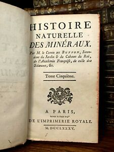 1785 NATURAL HISTORY OF MINERALS - Silver, Copper, Tin, Lead Mercury, Bismuth