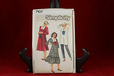 Vintage Simplicity 7107 Maternity Dress/Top/Pull On Pants Pattern Sz 10,12,14
