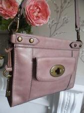 Fossil Vintage Revival Pale Lilac Leather Crossbody Bag Key Fits iPad mini