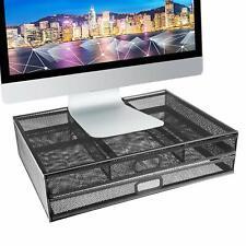 Pro Space Desk Organizer Metal Desk Monitor Stand Riser with Organizer Drawer