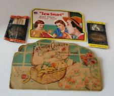 Antique Needle Lot - Four Different Holders with Needles -