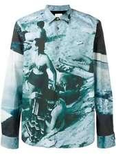 Paul Smith Shirt -BNWT Mainline Blue Paul's Photo Swimmer Shirt Sz: XL RRP: £285