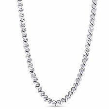 Amour 1ct TDW Diamond Twisted Tennis Necklace in Silver (G-H, I2-I3)