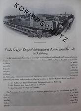 Radeberger Brauerei Feldschlößchen Einsiedler Brauhaus 8 Seiten Historie 1926