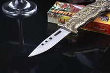 Novel Folding Knife Windproof Refillable Butane Gas Jet Flame Cigarette Lighter