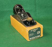"GREAT FIND Antique Vintage Stanley no. 9-1/4"" Block Plane in Box Inv#HC26"