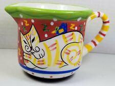 New listing Rare Vintage Dana Simson Hand Painted Creamer/Small Pitcher, Sleeping Tabby Cat
