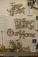 Chipboard Phrases HOME is where the HEART is, OUR HOME - ScrapFX 4Type Choice W2