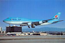 KOREAN AIR BOEING 747-4BS Airplane Postcard
